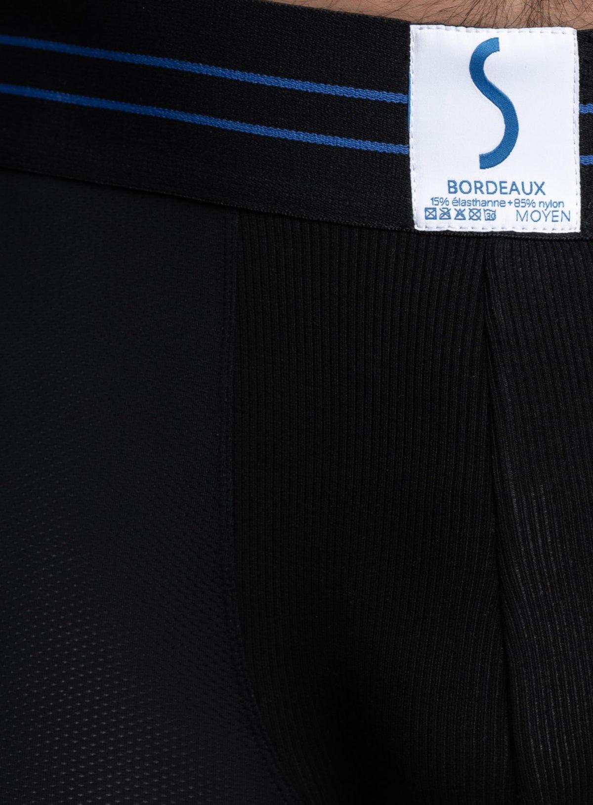 Zoom sur un boxer sportif SportPro noir de la marque S BORDEAUX