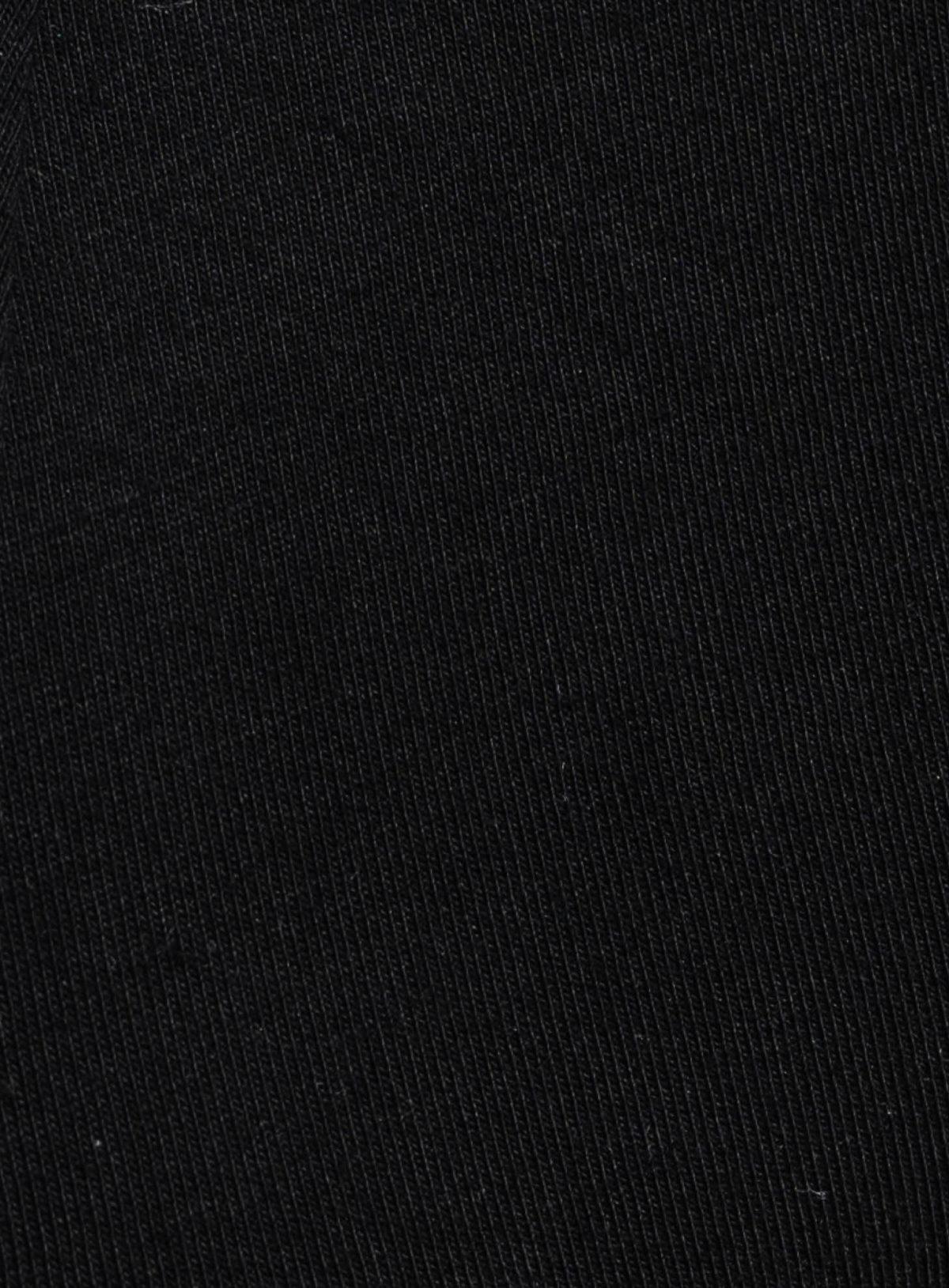 Zoom sur la matière du slip athesans noir de la marque S BORDEAUX
