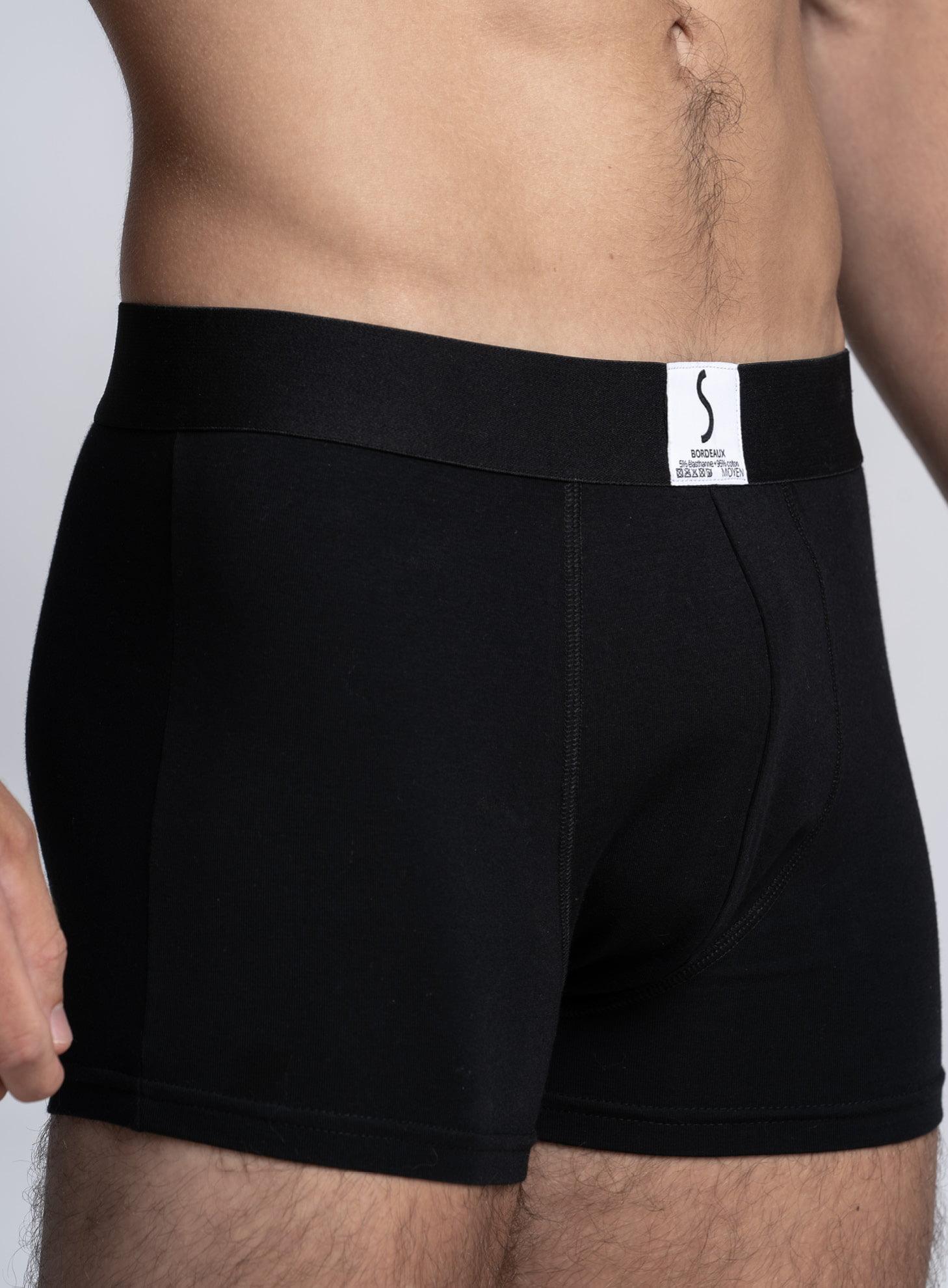 Zoom sur un Boxer Arpenans noir de la marque S BORDEAUX