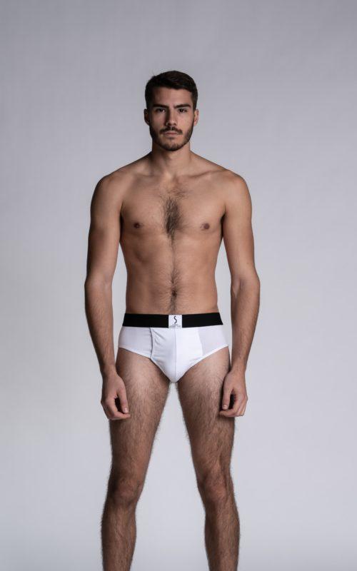 Slip ouvert blancs pour homme Athesans de la marque de sous-vêtements S BORDEAUX