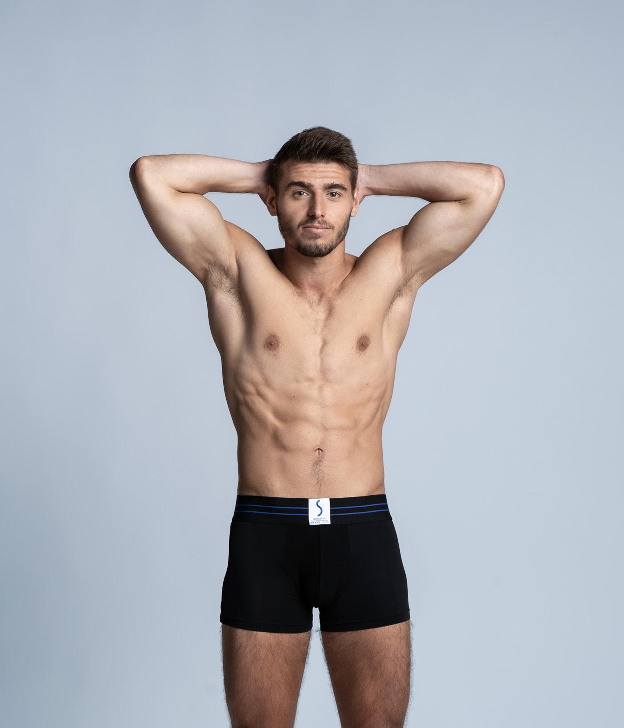 Mannequin sportif portant un boxer SportPro de la marque S BORDEAUX