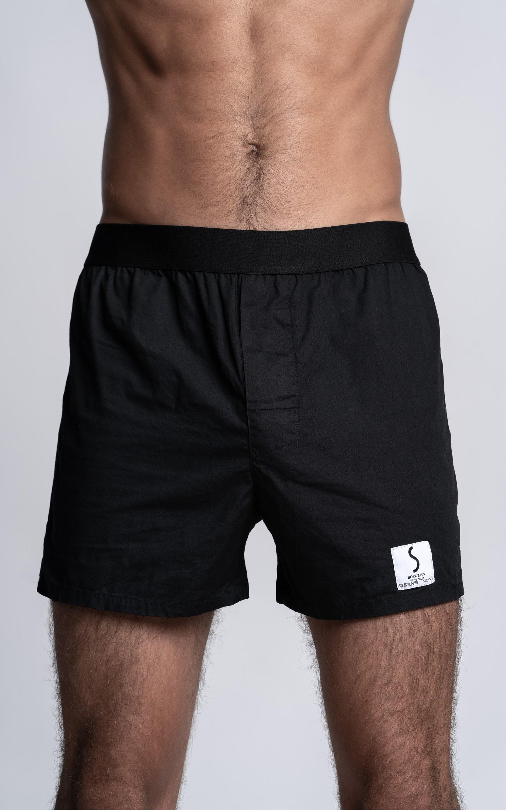 Zoom sur un caleçon Lyoffans noir pour homme de la marque S BORDEAUX