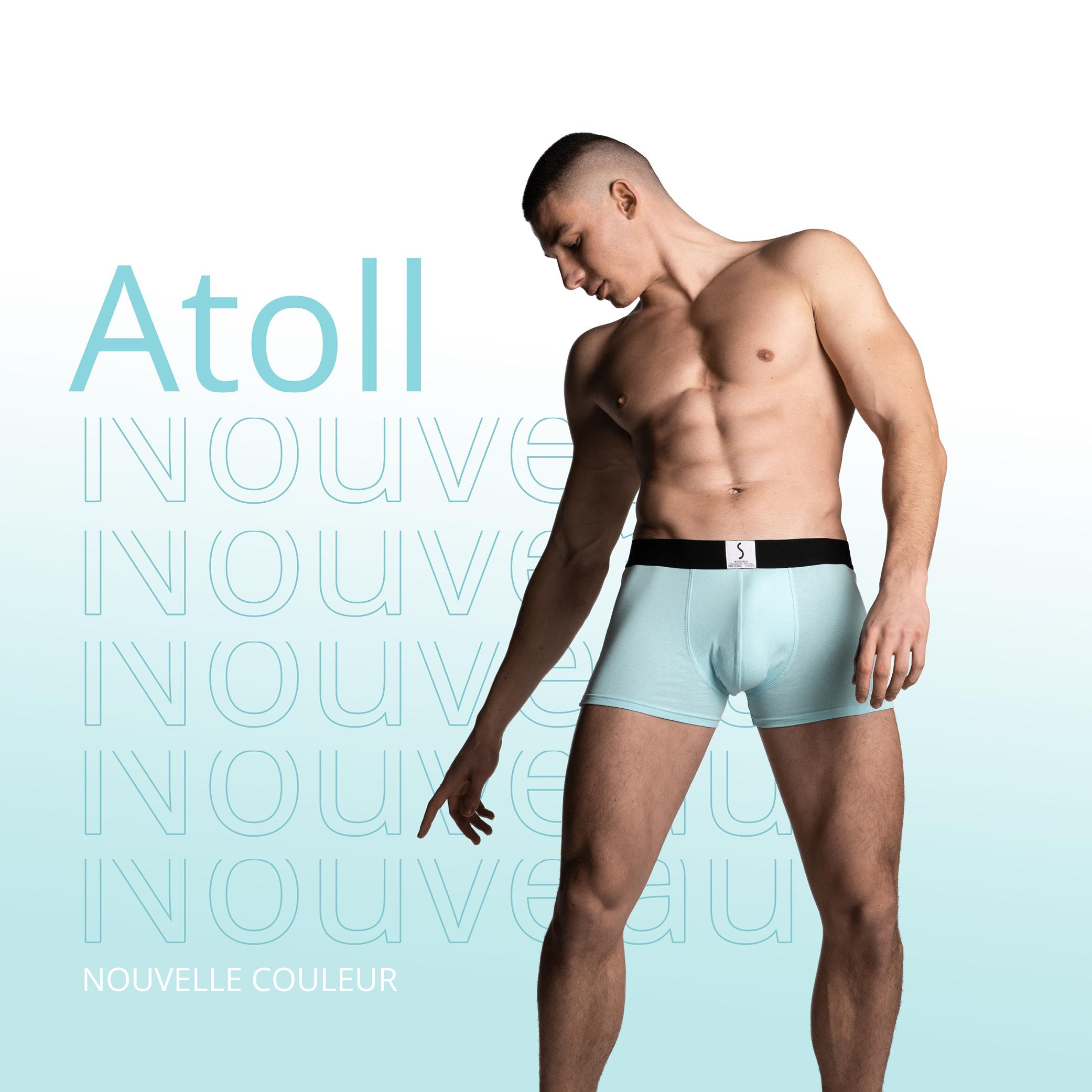 Boxer Arpenans bleu atoll pour homme de la marque S BORDEAUX