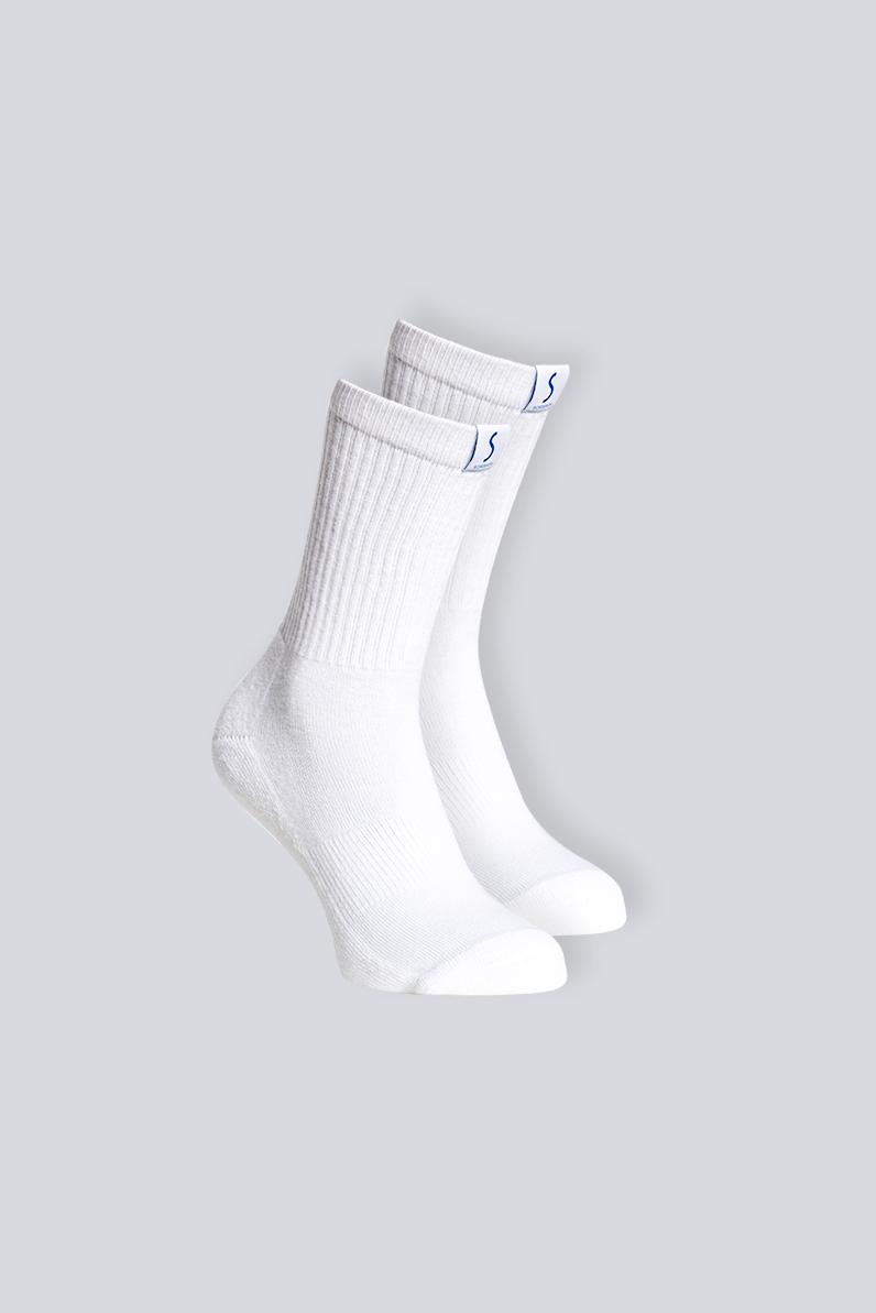 Deux paires de chaussettes mi-mollet blanches pour le sport pour homme de la marque S BORDEAUX