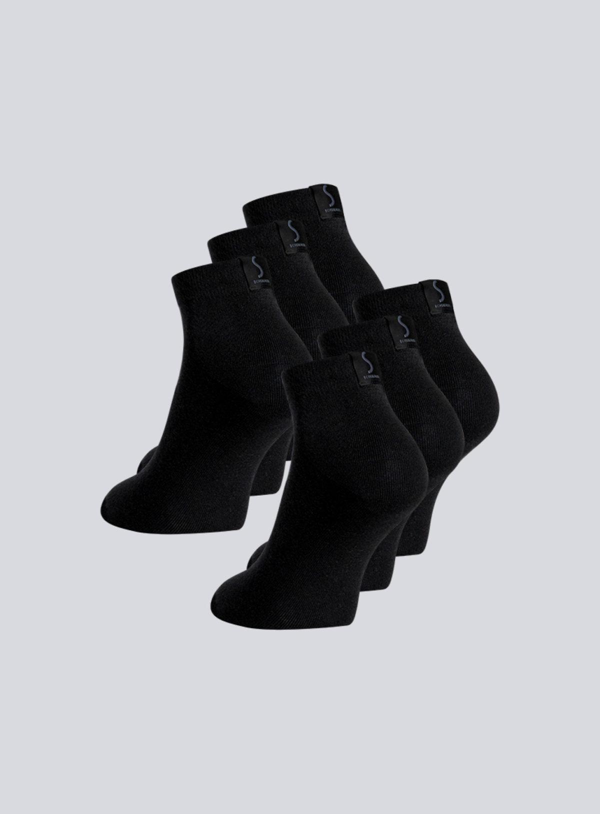 Chaussettes noirs pour homme socquettes de la marque S BORDEAUX