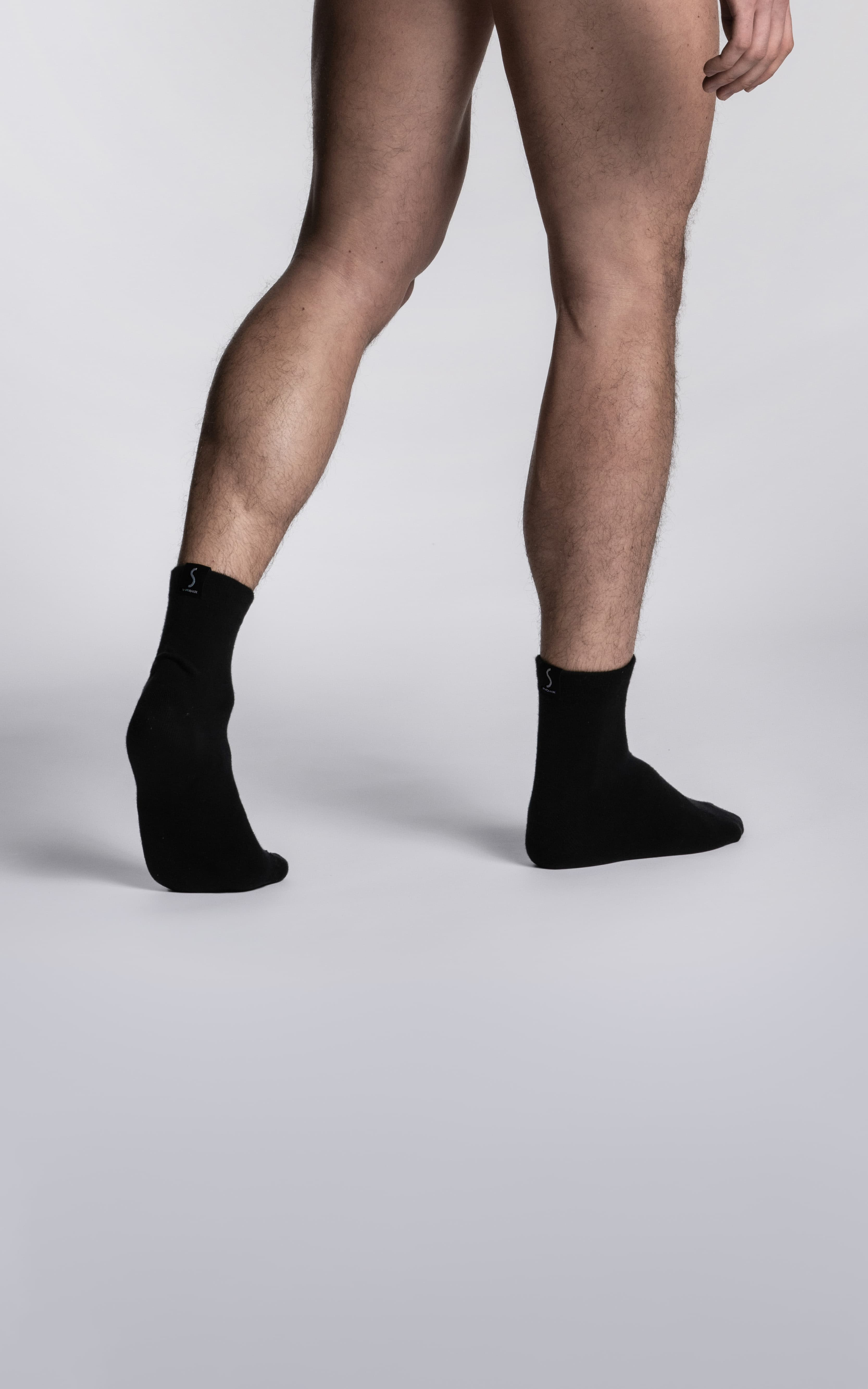 Paire de chaussettes noires socquettes pour homme de la marque S BORDEAUX