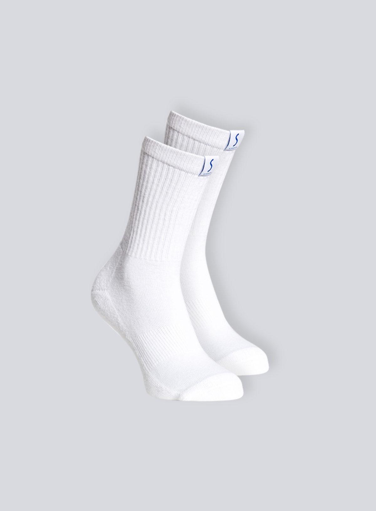 Deux paires de chaussettes mi-mollet blanche pour le sport pour homme de la marque S BORDEAUX