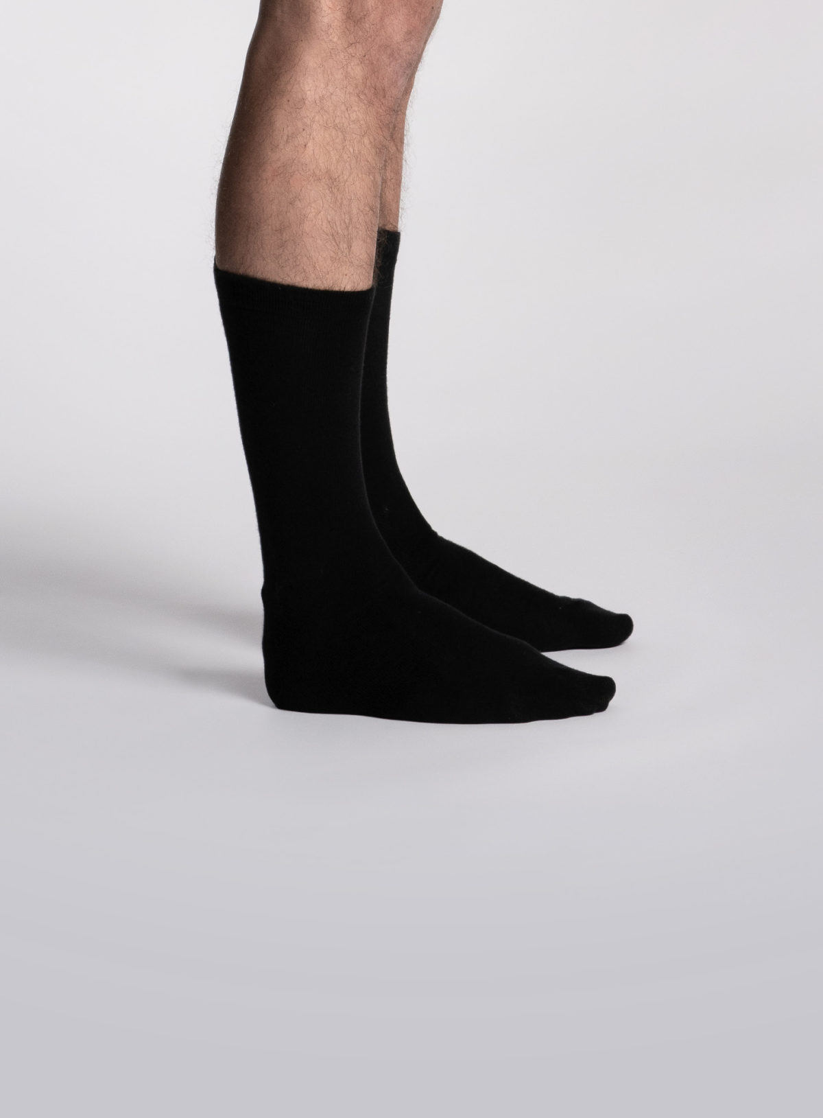 Paire de chaussettes mi-mollet noires pour homme de la marque S BORDEAUX