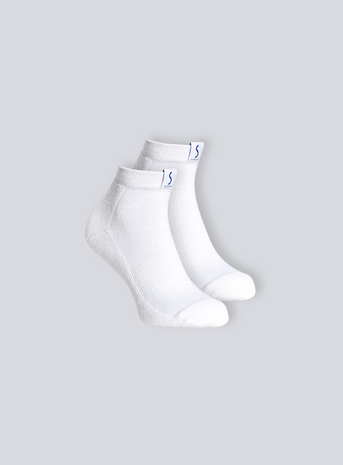 Deux paires de chaussettes socquettes blanches pour le sport pour homme de la marque S BORDEAUX