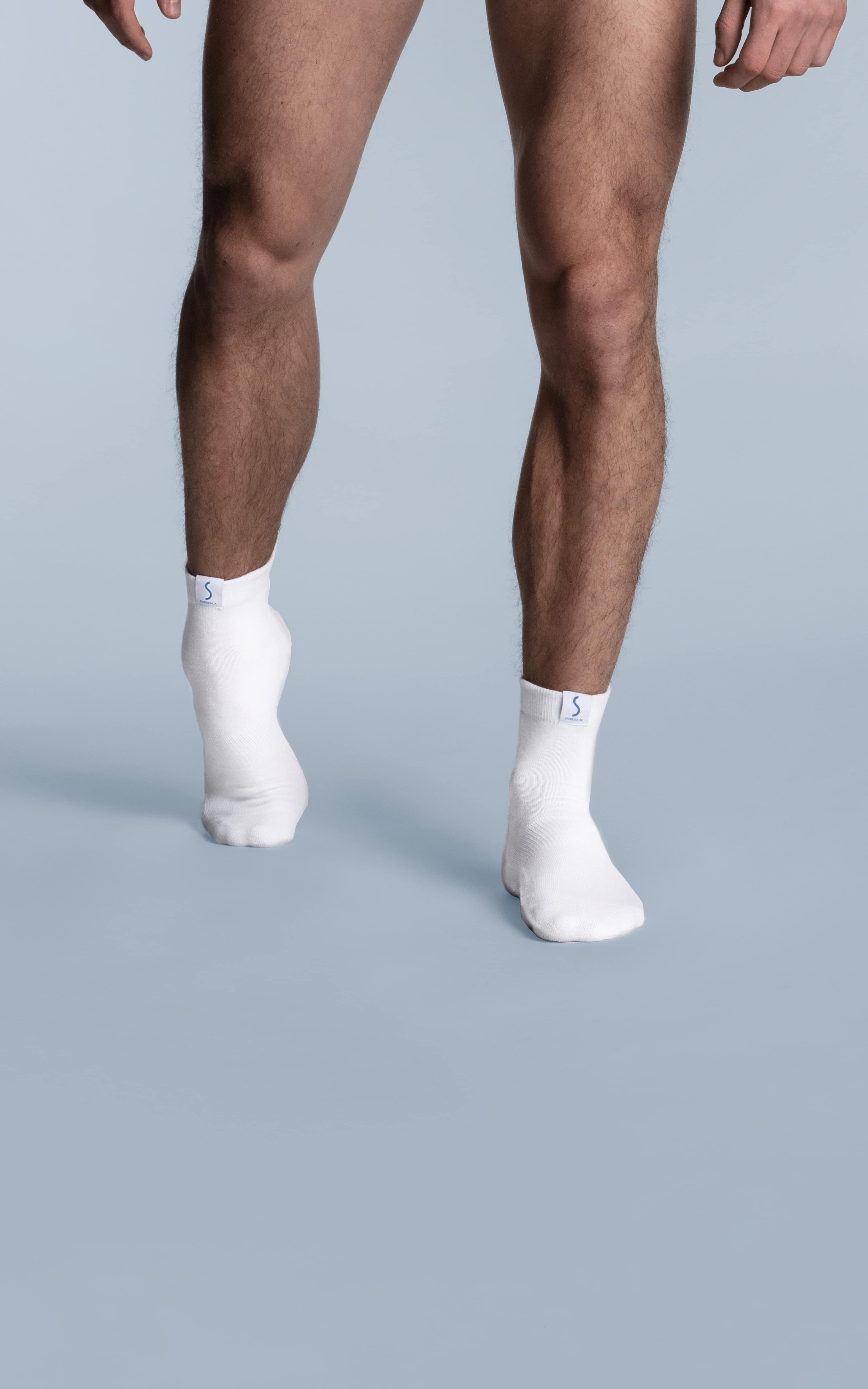 Paire de chaussettes socquettes blanches pour le sport pour homme de la marque S BORDEAUX