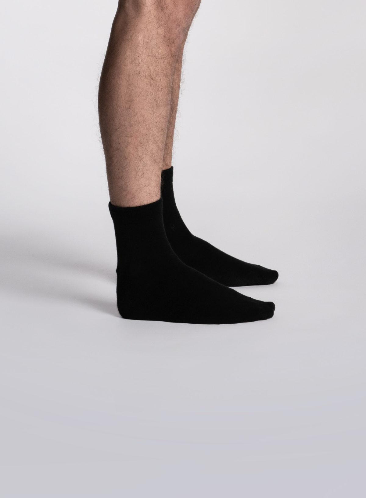 Paire de chaussettes socquettes noires pour homme de la marque S BORDEAUX
